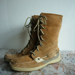 Sperry Top-Siders Ladyfish Boot - Tan Suede 9.5M